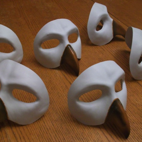 Bird masks for theater play